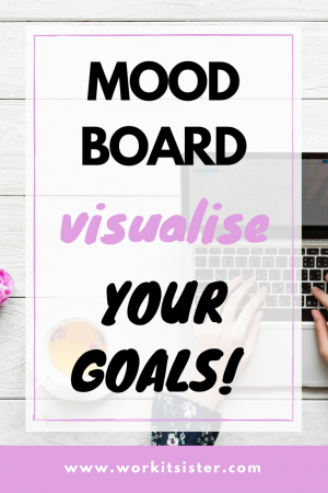 Mood board, visualise your goals