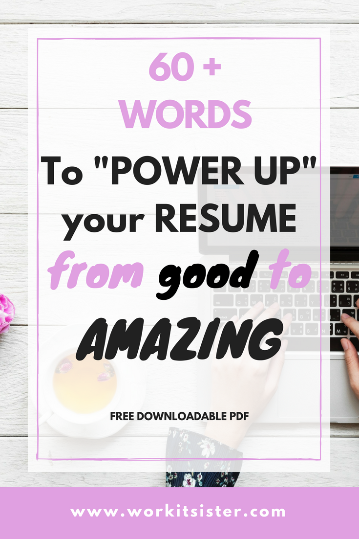Check out theses 60+ words to create an amazing resume. Resume tips and tricks to get noticed and make you a perfect candidate. #resume