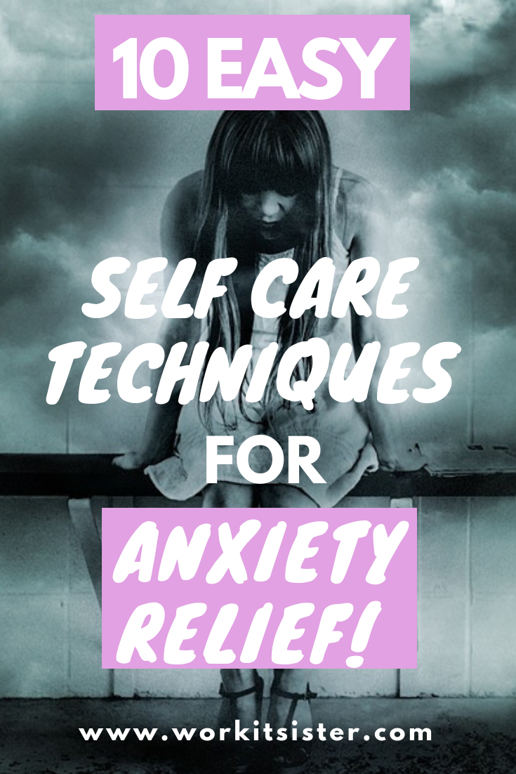 Get anxiety relief with these 10 easy self care techniques that you can do at home. Includes the best breathing techniques, meditation apps, yin yoga and more.